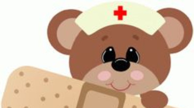 Picture of bear in nurse outfit