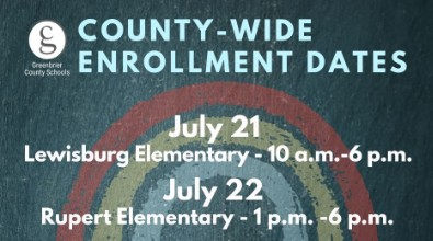 Greenbrier County Schools: Enroll with Us!
