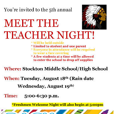 20-21 Meet the Teacher Night Flyer
