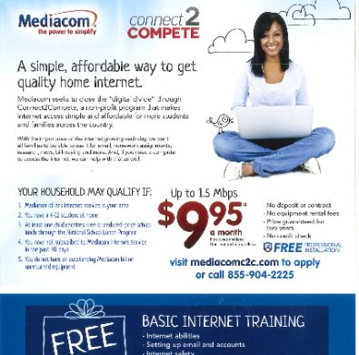 Mediacom Connect 2 compete flyer