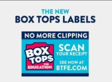 Box Tops for eduction. (Words) scan your receipt see how at btfe.com