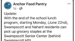 Anchor Food Pantry Swampscott