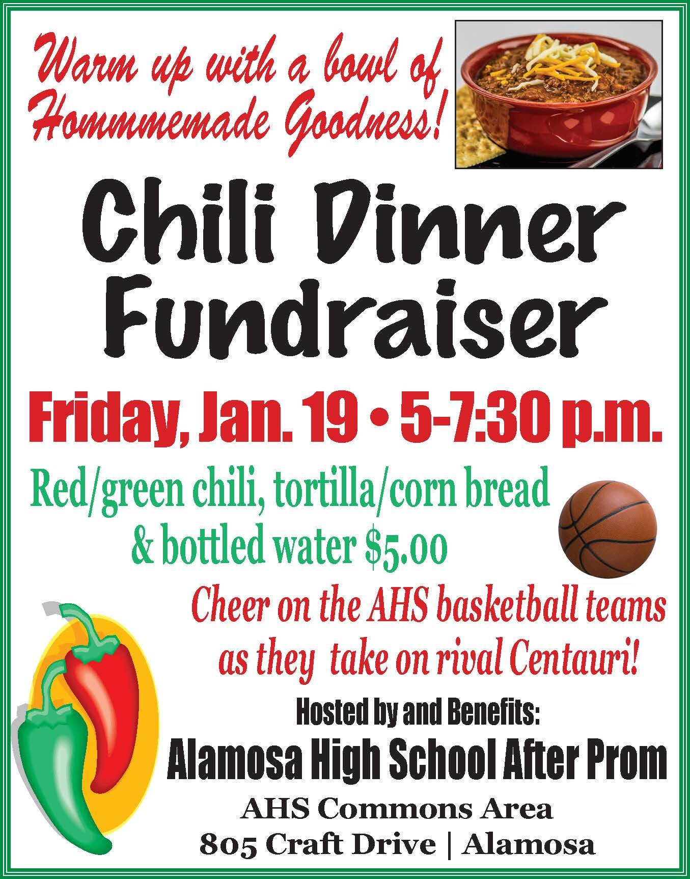 After Prom Chili Dinner Fundraiser