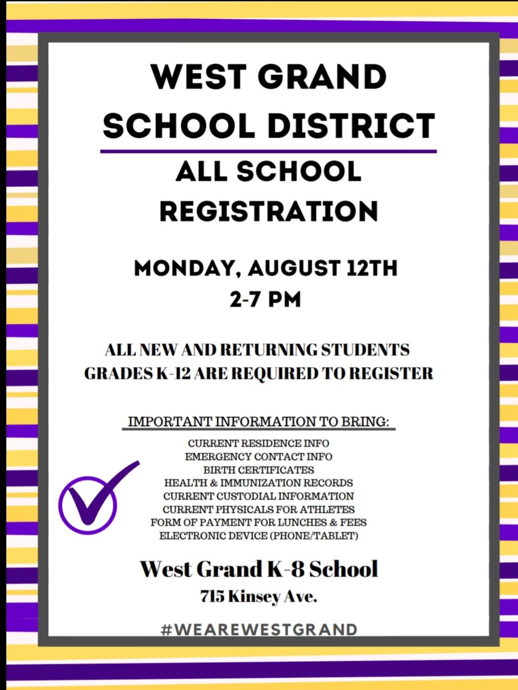 All School Registration