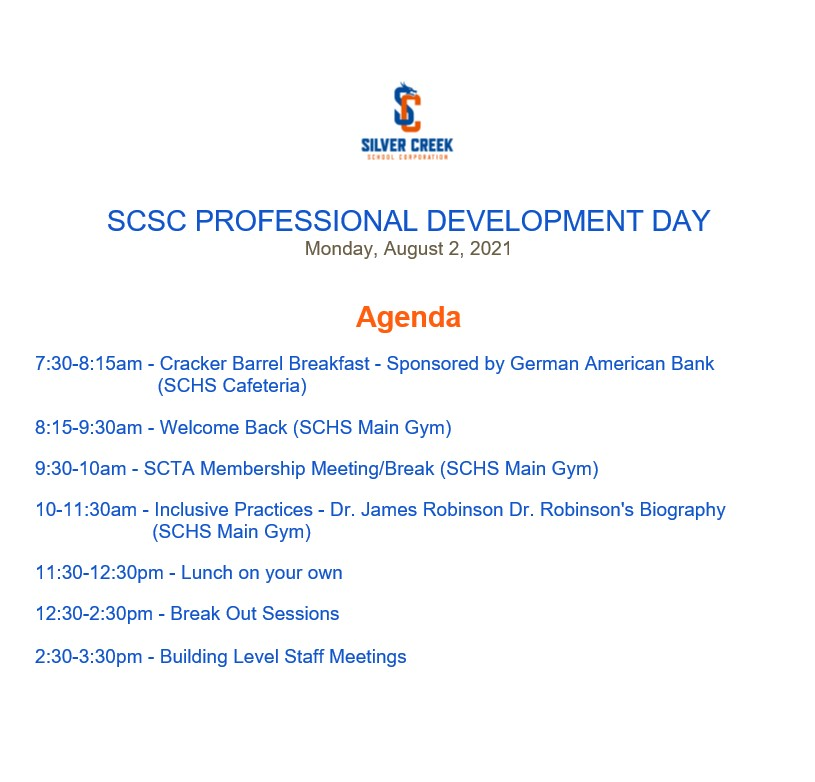 SCSC Professional Development Day