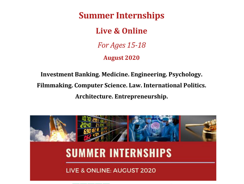 Virtual Summer Internships