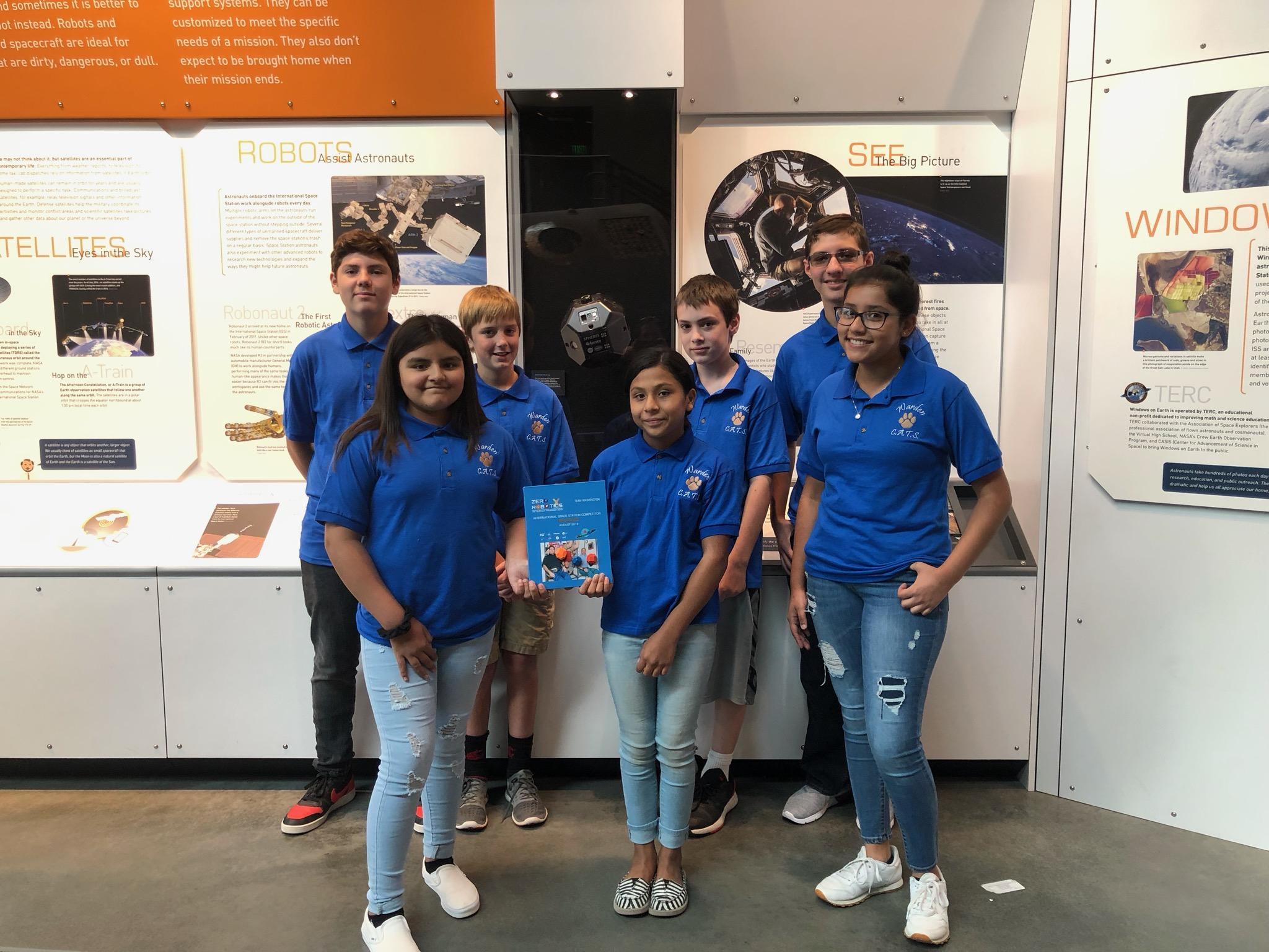 Warden Zero Robotics Team, Summer 2019