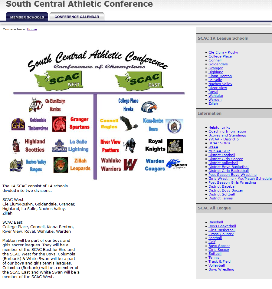 SCAC Conference Website
