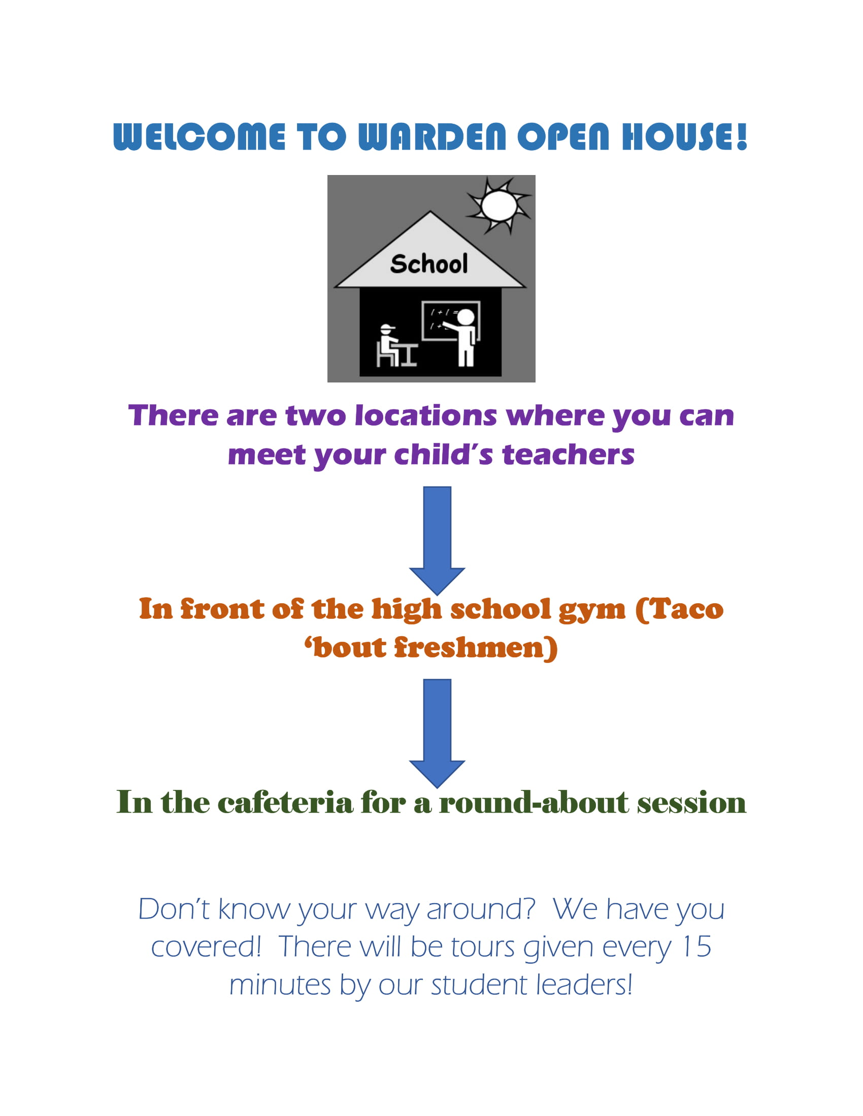 Welcome to Warden Open House, 2019