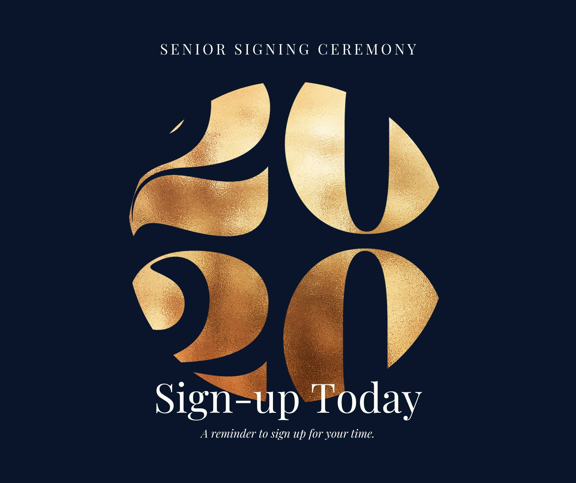 Senior signing ceremony sign up