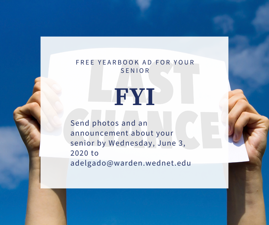 Free Yearbook ad for your WSD Senior