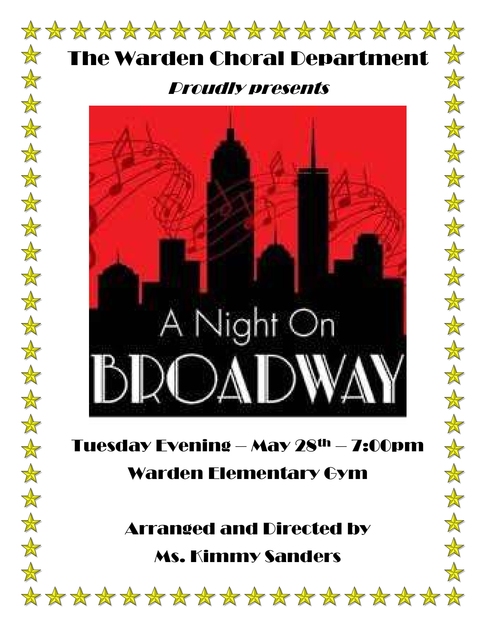 2019 WSD Choir presents, A Night on Broadway