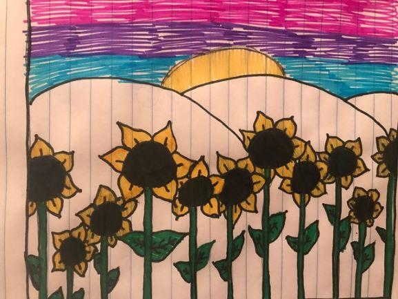 Painted Sunflowers