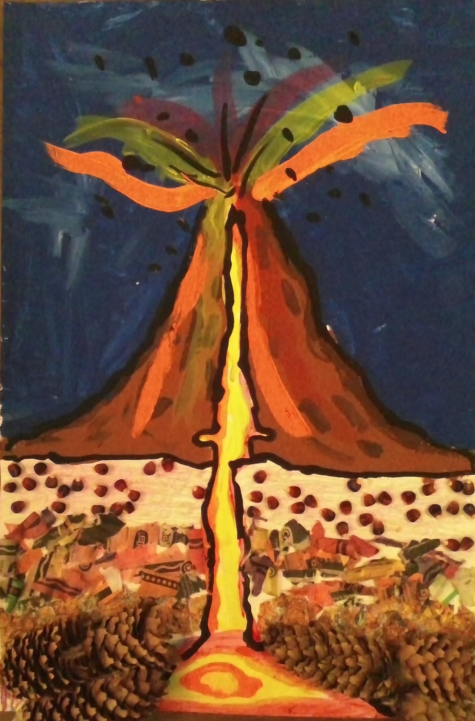 Studnet Artwork - Volcano