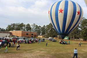 Hot Air Balloon Team Visits Hillcrest