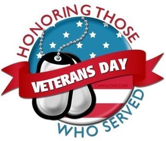 Veteran's Day - Monday, Nov. 12th, No School