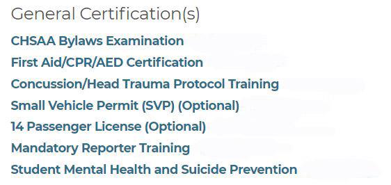 Coaching Certifications