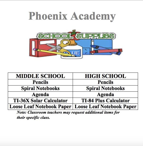 21-22 School Supply List