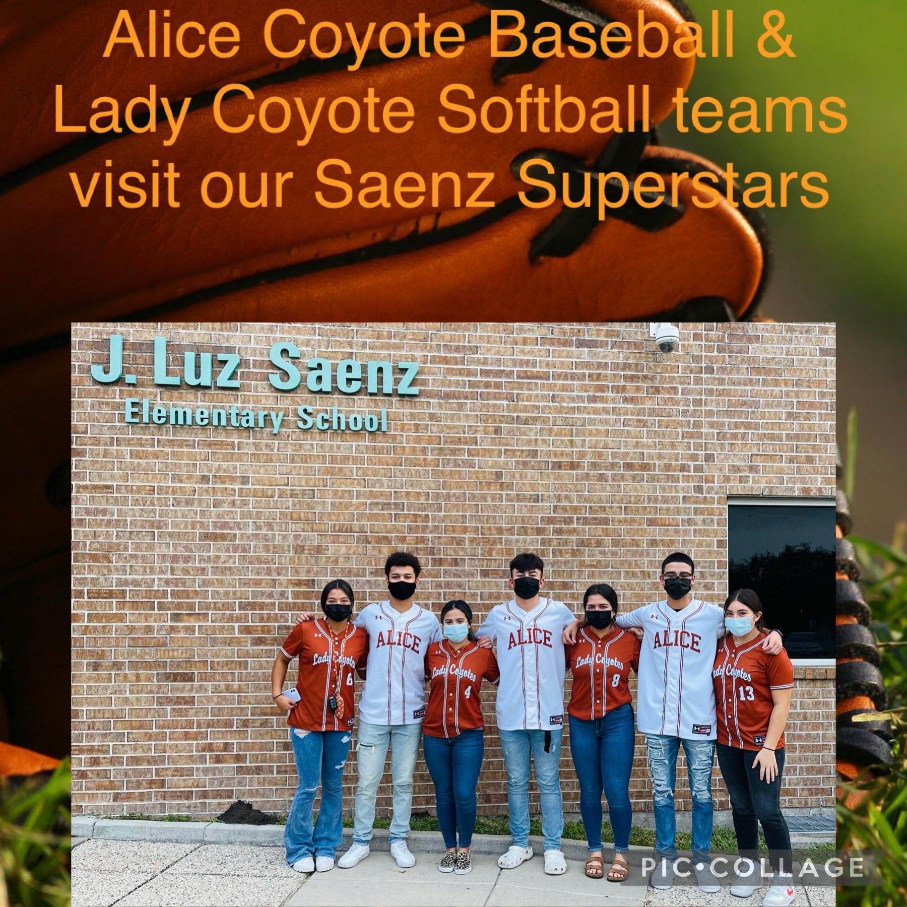 Thank you AHS Coyote Softball & Baseball team