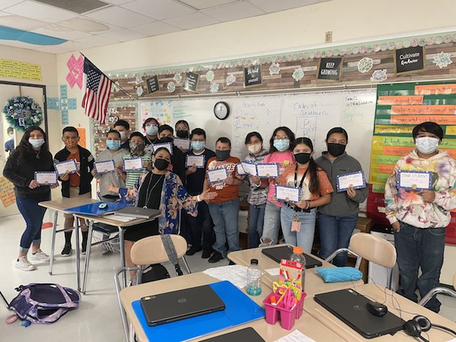 LOTS OF STAR STUDENTS AT SAENZ ELEMENTARY!   MRS. KRYSTINA DELAROSA RECOGNIZES STUDENTS SHOWING PROGRESS ON UNIT ASSESSMENTS.