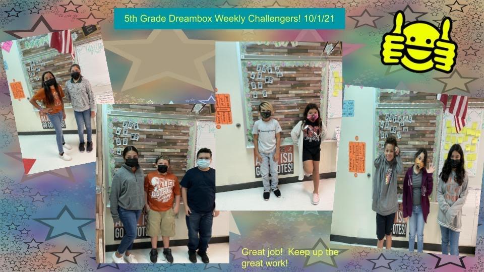 5th grade Dream Box Superstar spot light