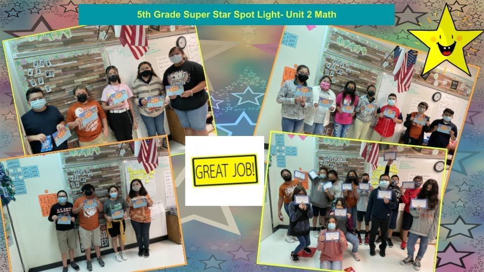 5th grade Dream Box Challenge Superstar spot light