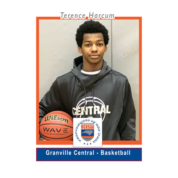 Terence Harcum - Granville Central High School - NCHSAA Performance of the Week Award