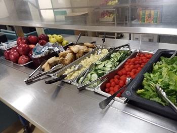 Lake Region Middle School Salad Bar