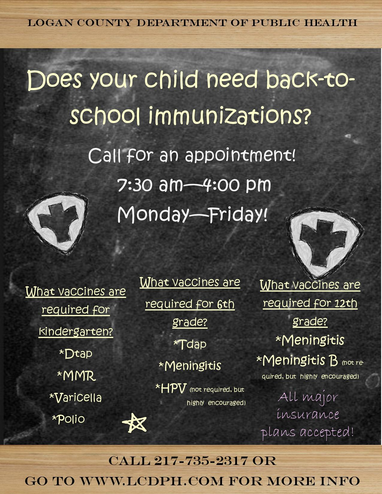 Physicals and Immunizations