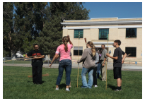 Delta Middle School students are working in groups, exploring a wide range of projects, from photography, chemistry, and robotics - even the history of Mickey Mouse.