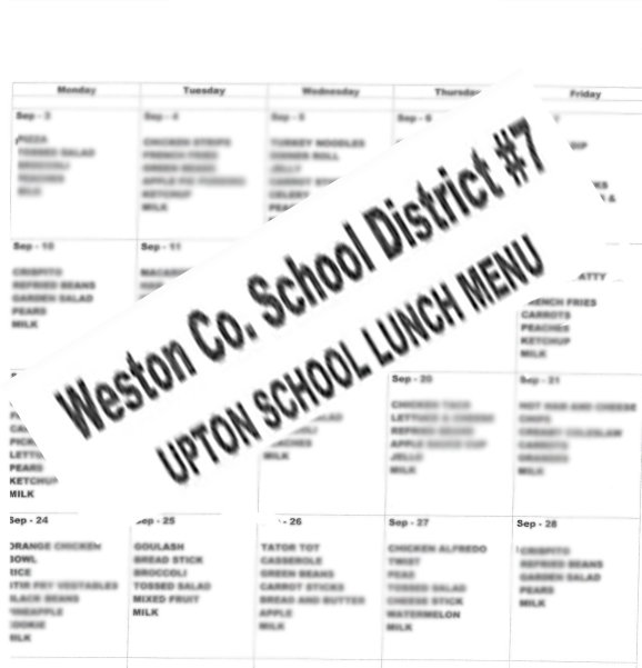 Printable Lunch Menu