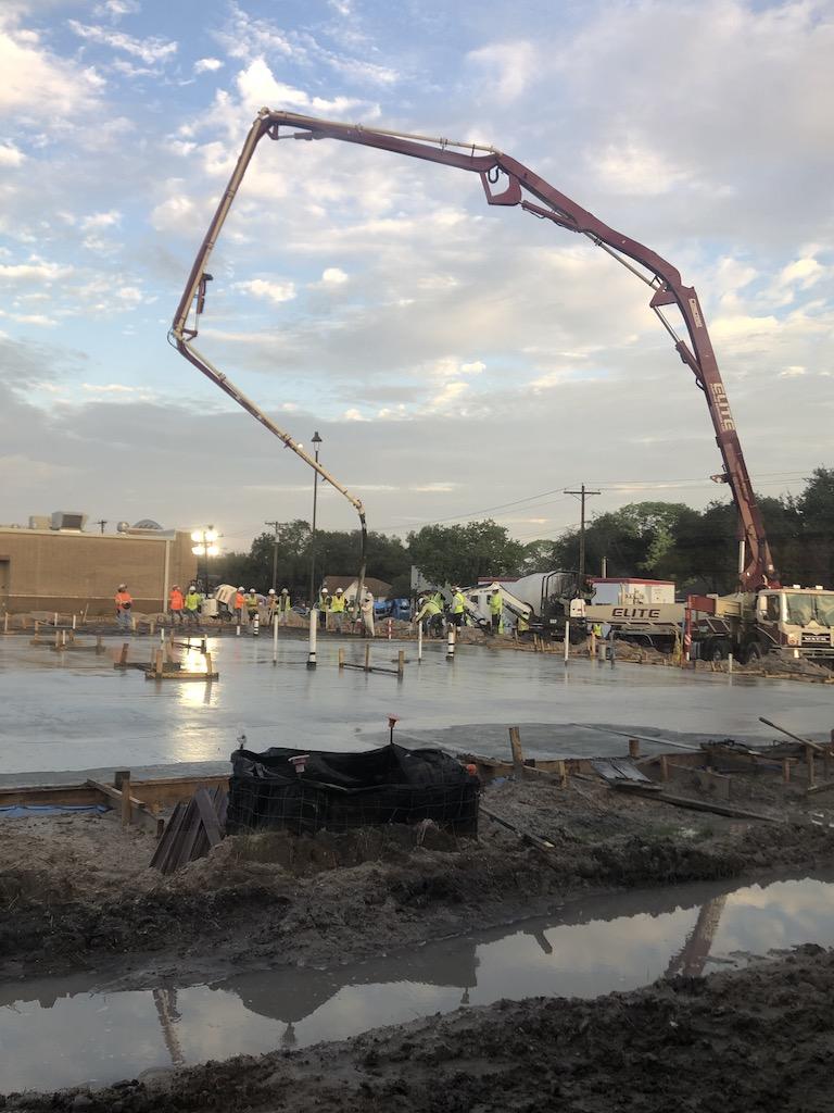 Construction on 9/18/20-finishing foundation