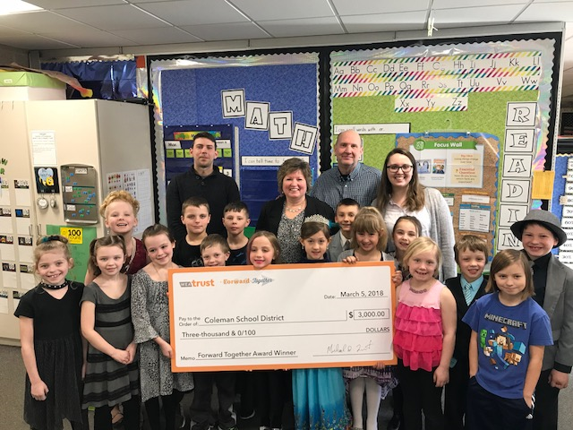 Mrs. Brown receives $3000 grant!