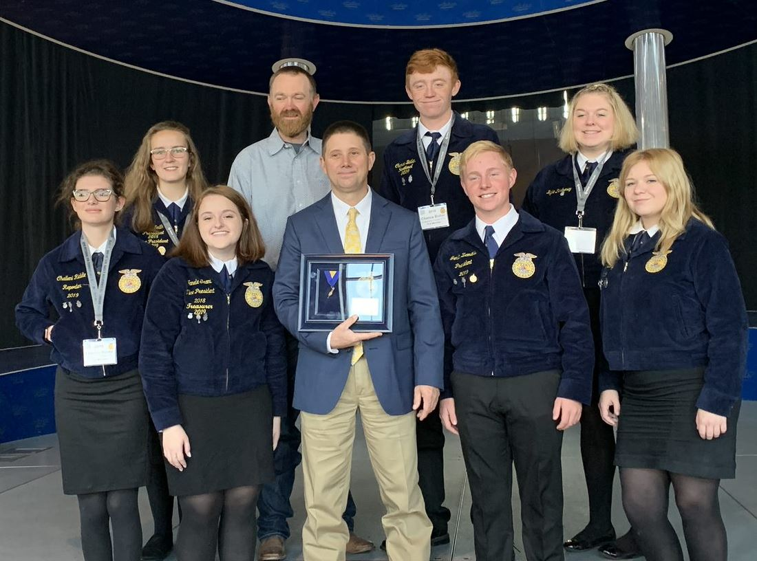 Mr. Cress receives national ffa award