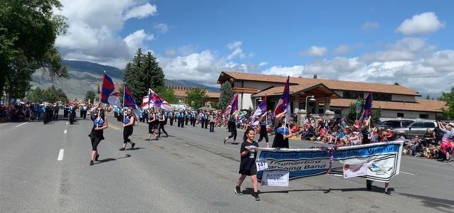 Band Marches in the Cody Stampede parade.