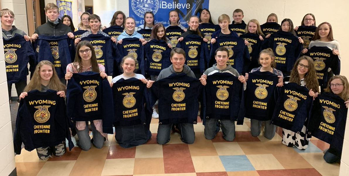 Freshman members of East Frontier FFA.