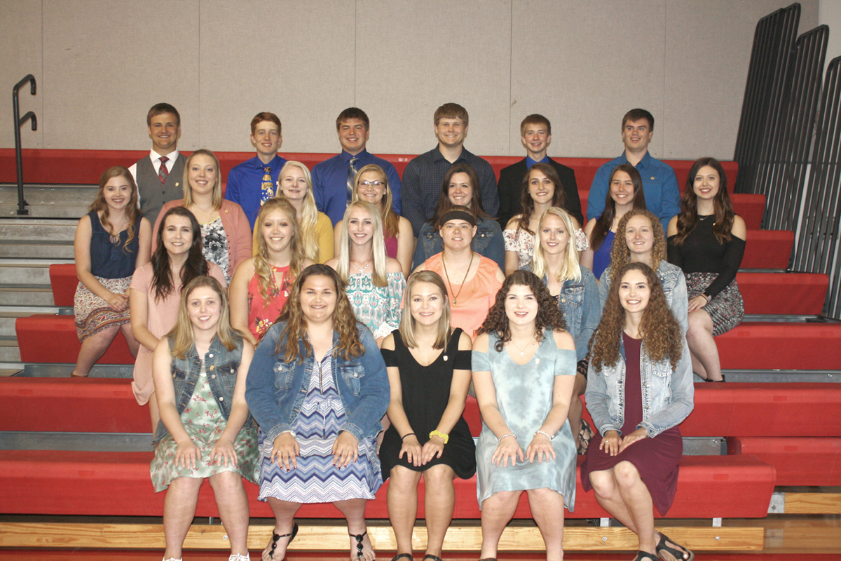 National Honor Society Members 2018