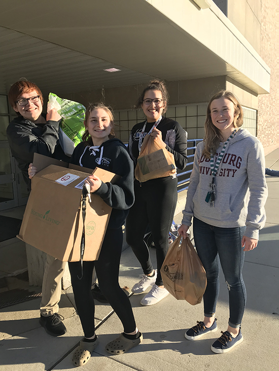 WE Scare Hunger 2018 - From left: Brody Butcher, Kira Loop, Justine Day and Rachel Pitt