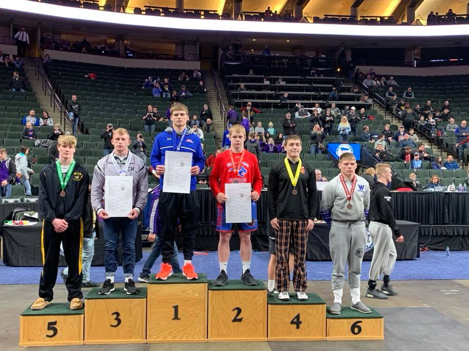 March 4  - WHA Wrestler Places at State