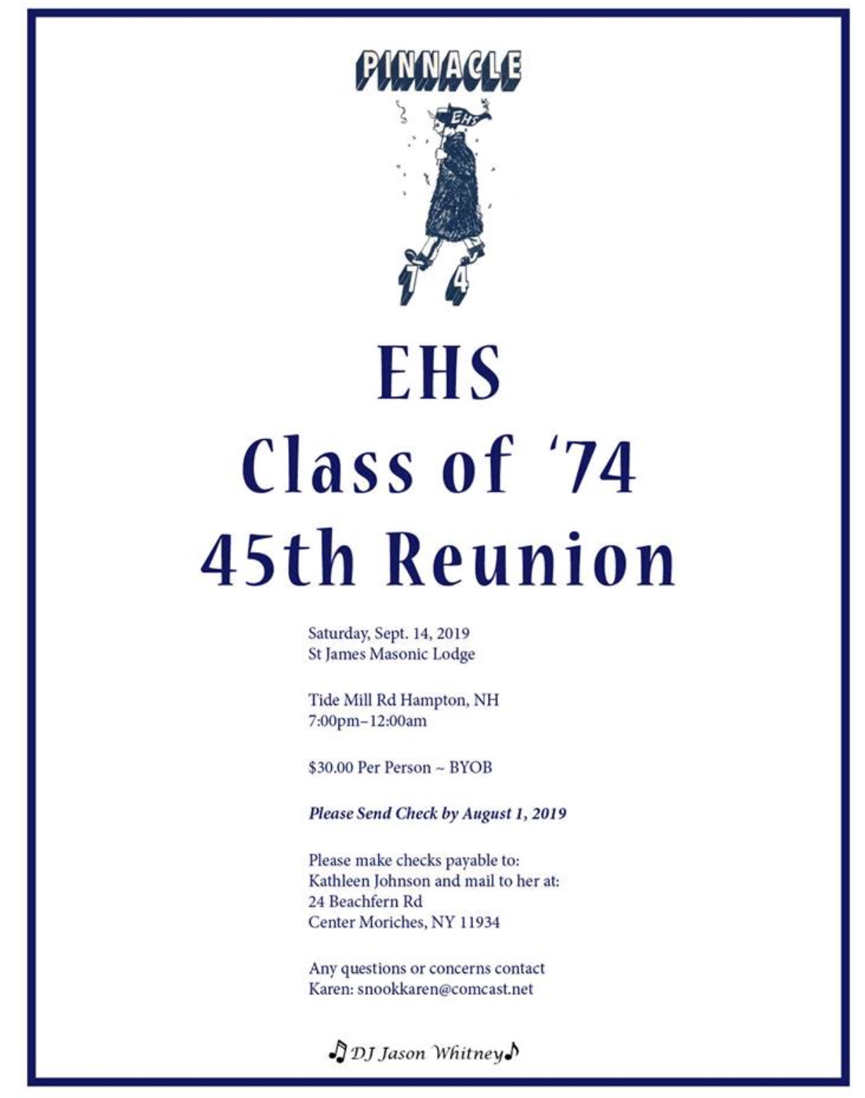Class of '74 - 45th Reunion