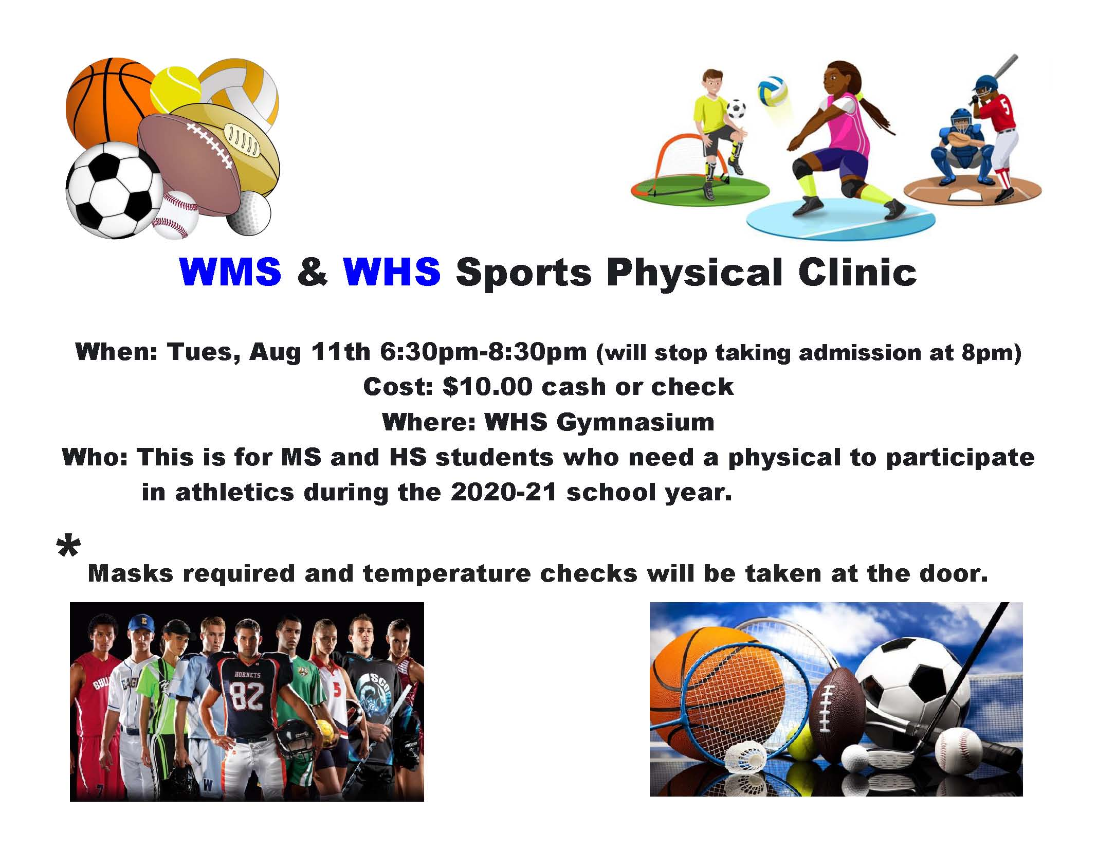 WHS & WMS Sports Physical Clinic