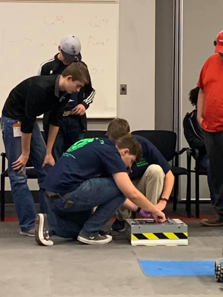 ROBOTICS TEAM WORKING