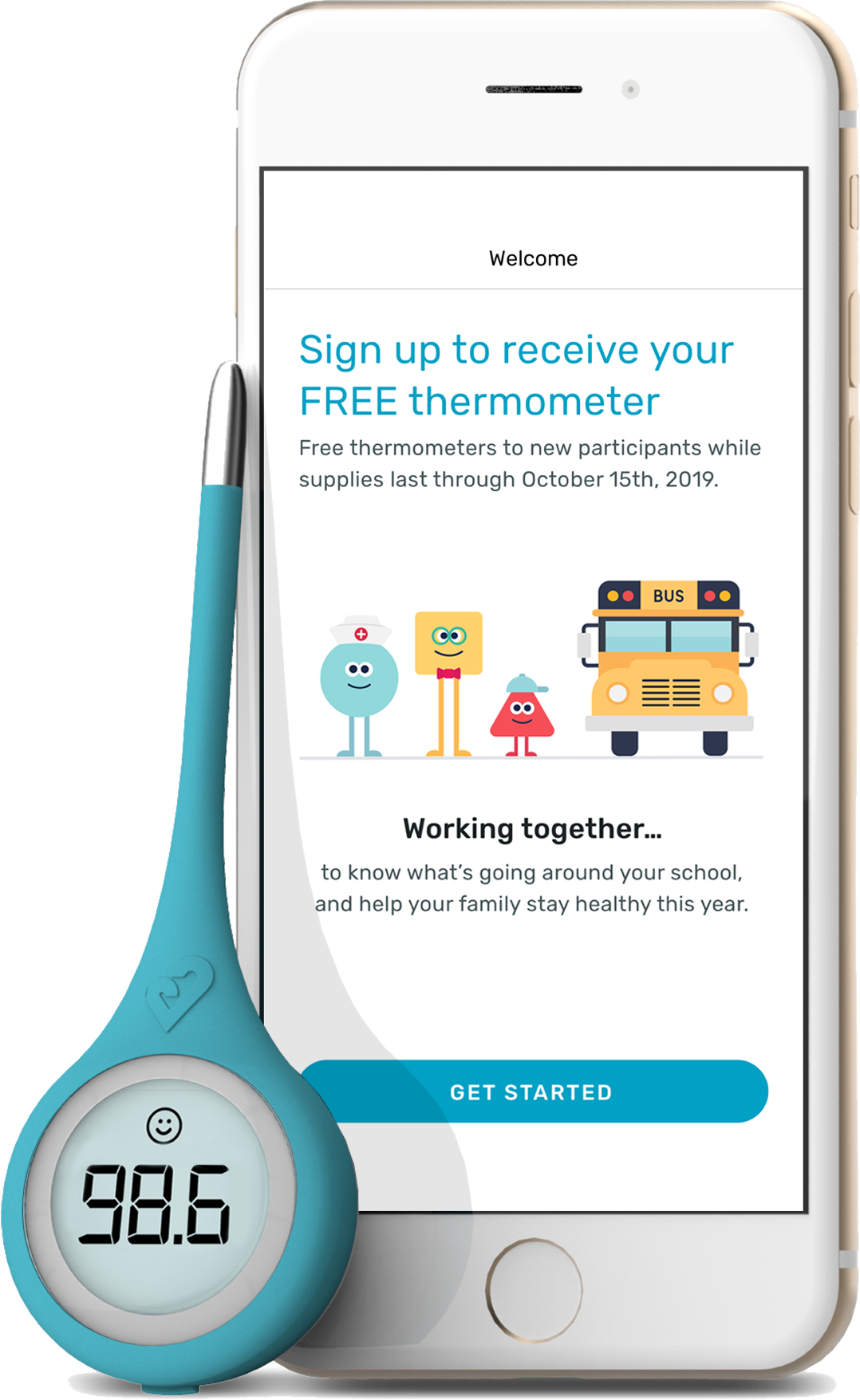 Get your FREE digital Thermometer from Kinsa
