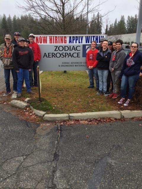 CTE Composites Students Tour Zodiac Aerospace