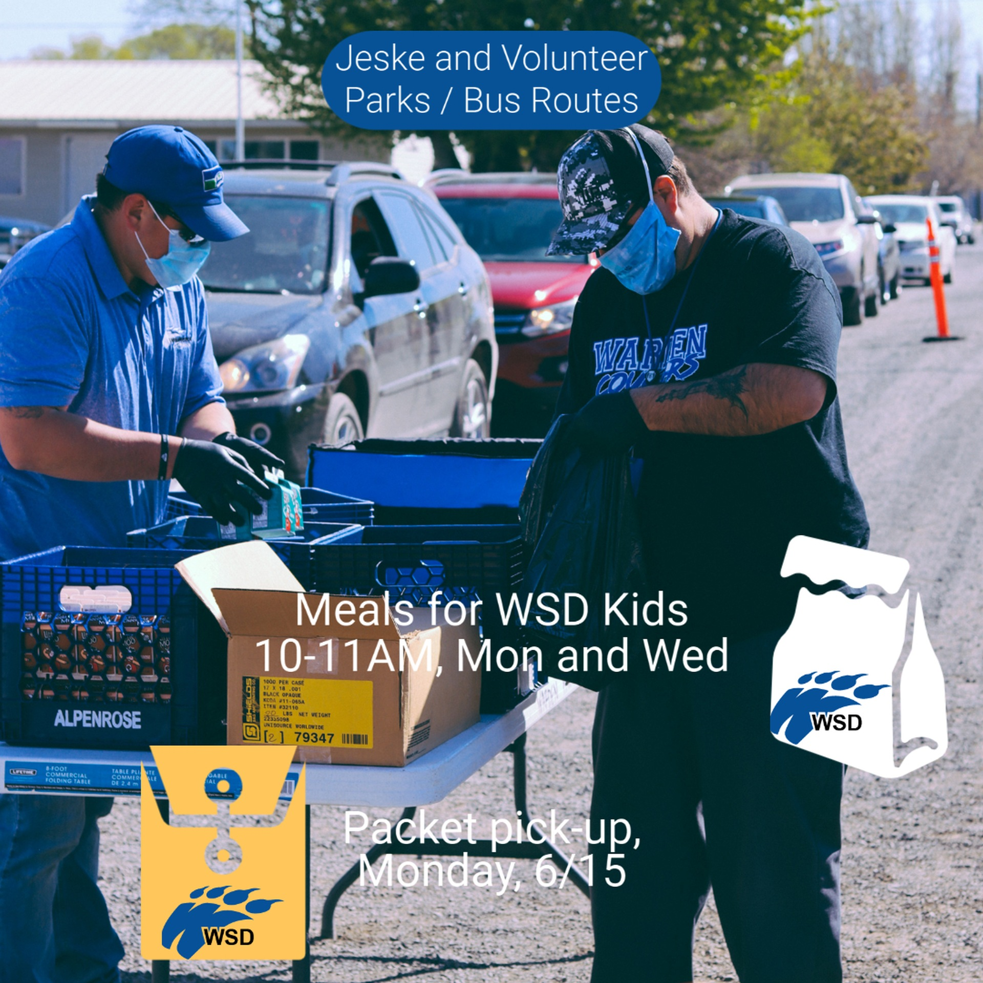 6/15/2020, MEALS FOR WARDEN CHILDREN /  ENRICHMENT PACKET PICK-UP