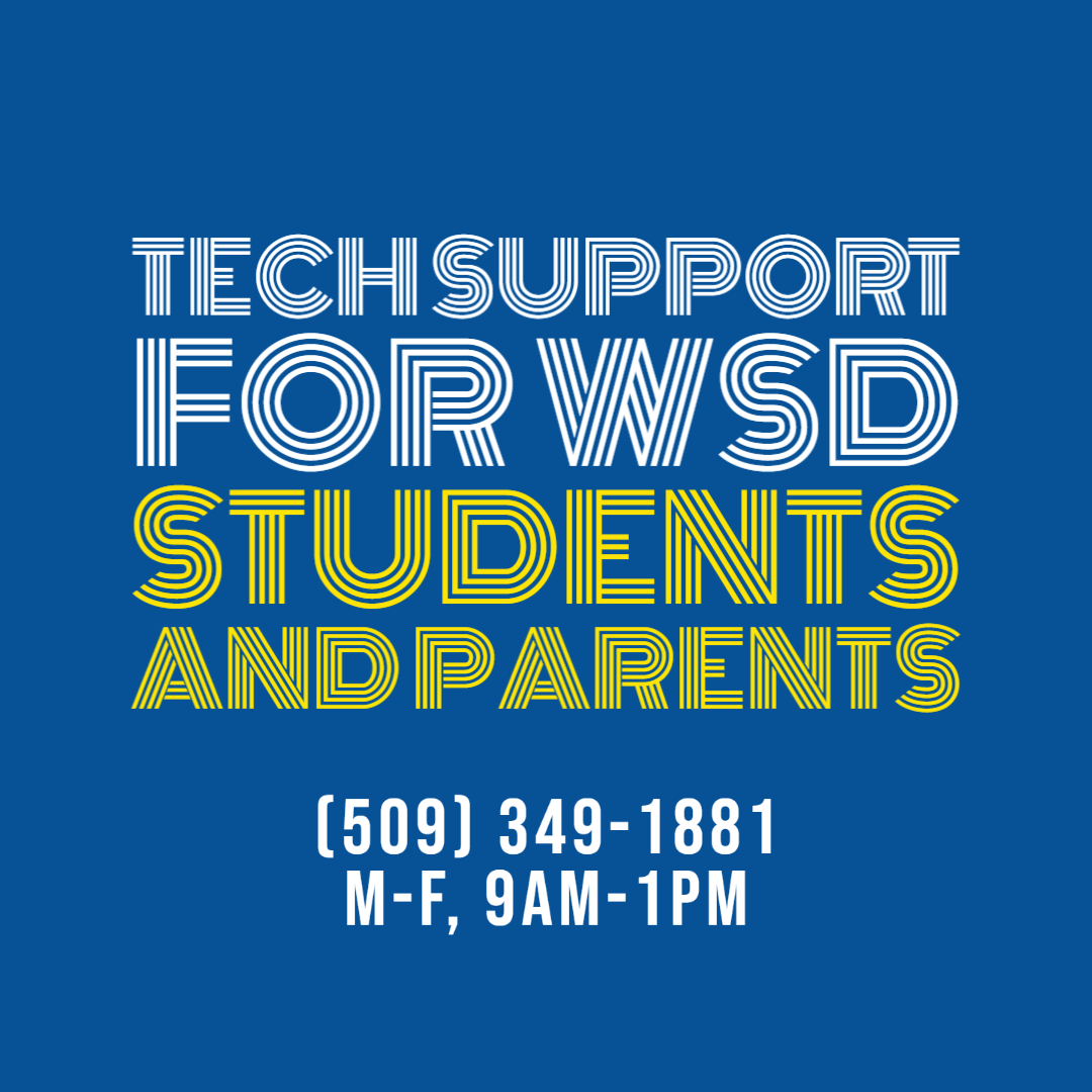 Tech Support for WSD Students and Parents