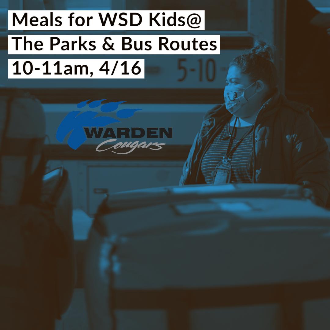 4/16/2020, MEALS FOR WARDEN CHILDREN