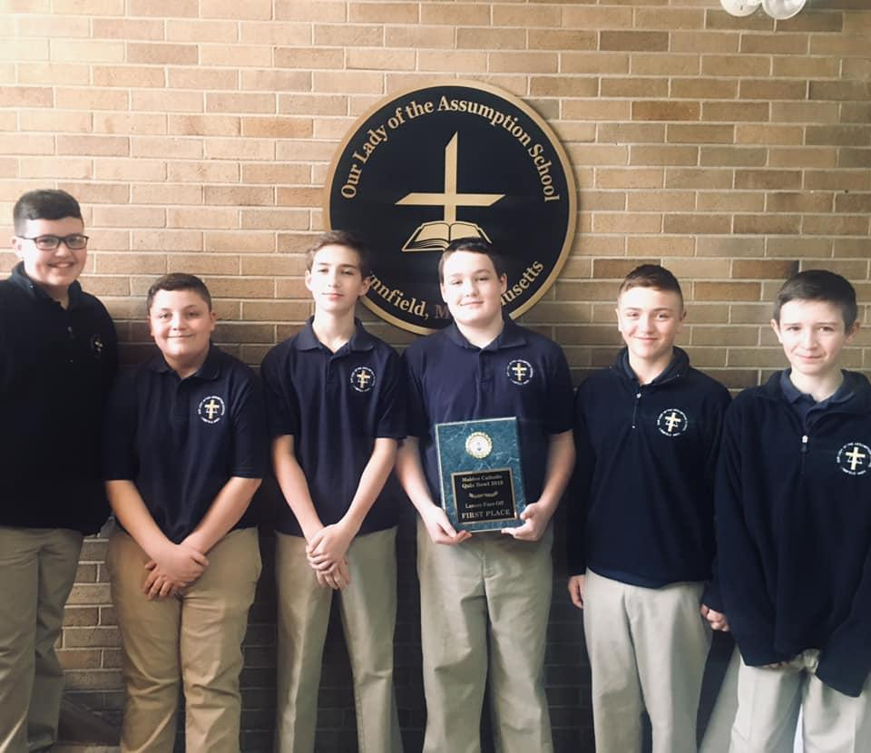 OLA Boys Win the 2019 Malden Catholic Quiz Bowl!