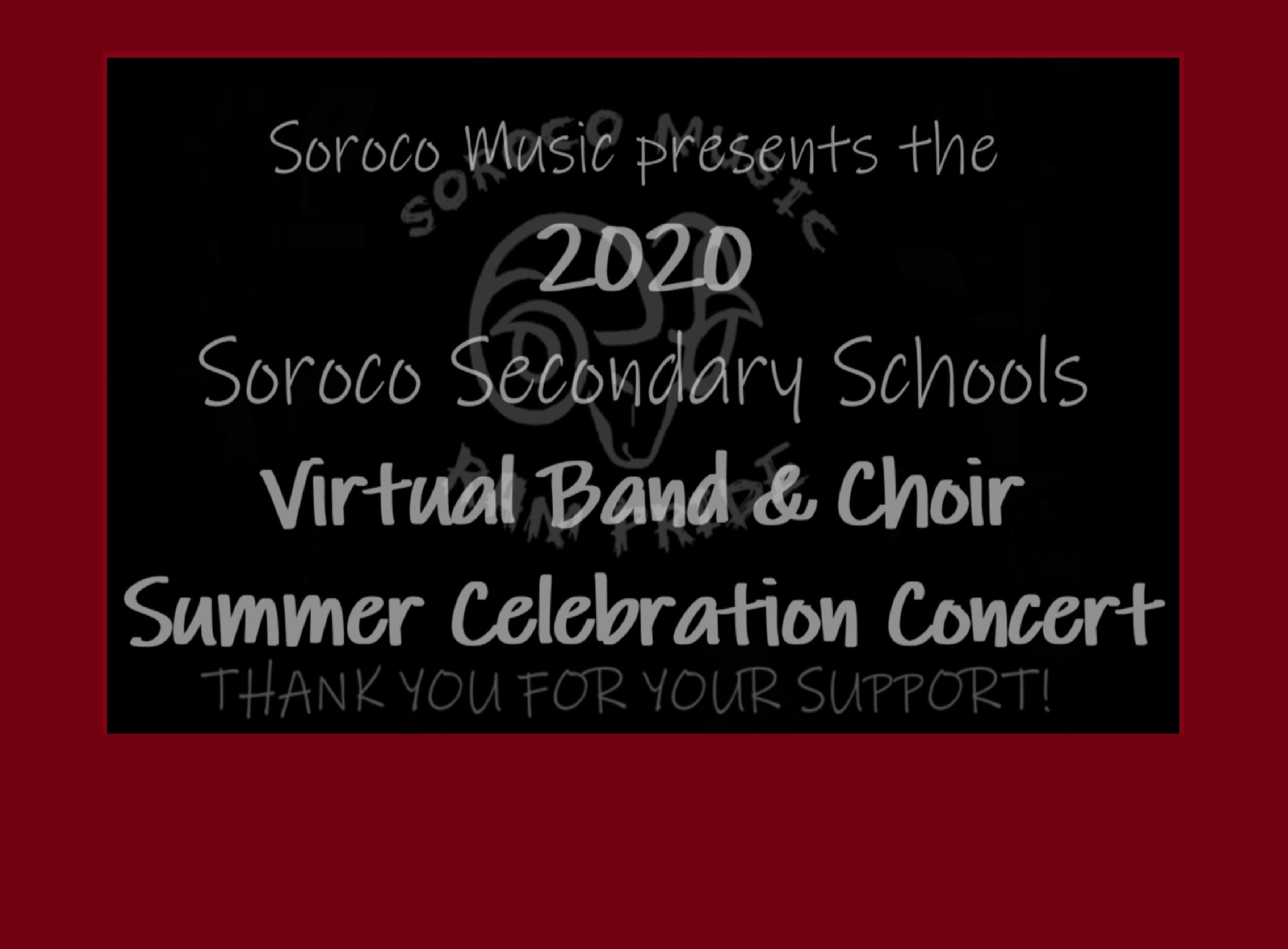2020 Virtual Band & Choir Concert - Click HERE!