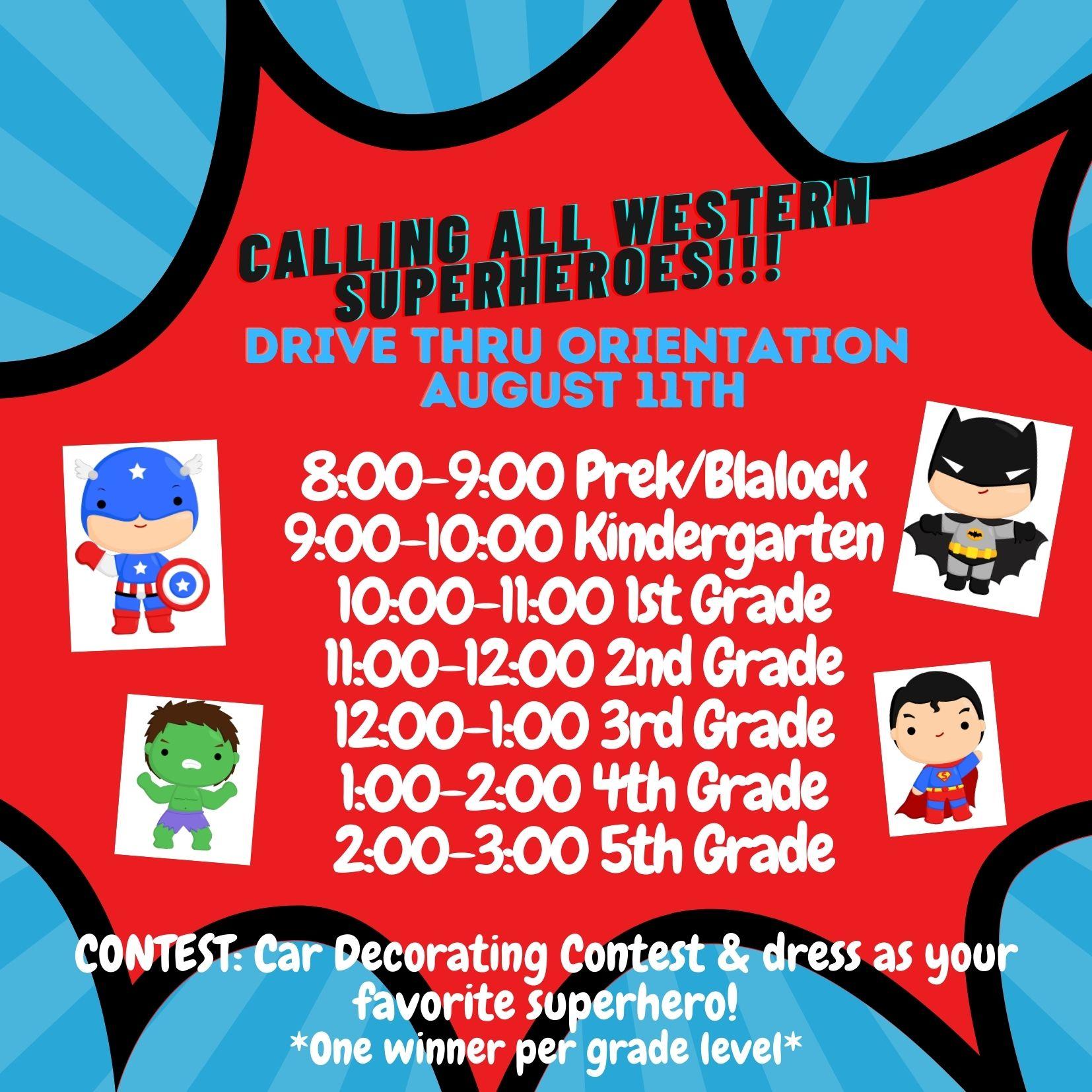Aug. 11th - Western Drive Thru Orientation
